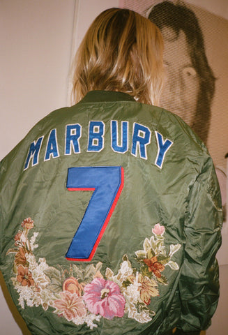 Marbury Floral Needlepoint Bomber