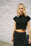 Liv Crop Tee Black
