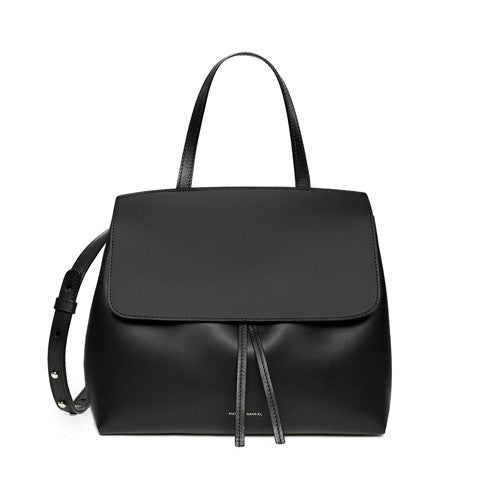 Mansur Gavriel Black/Ballerina Mini Lady Bag / Shop Super Street - 1