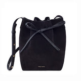 Mansur Gavriel Mini Black Suede Bucket Bag / Shop Super Street - 2