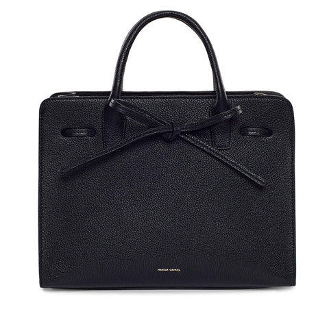Mansur Gavriel Black Tumble Sun Bag / Shop Super Street - 1