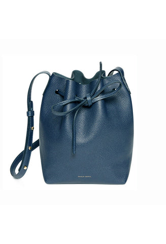 Mansur Gavriel Mini Blu Tumble Bucket Bag / Shop Super Street - 1