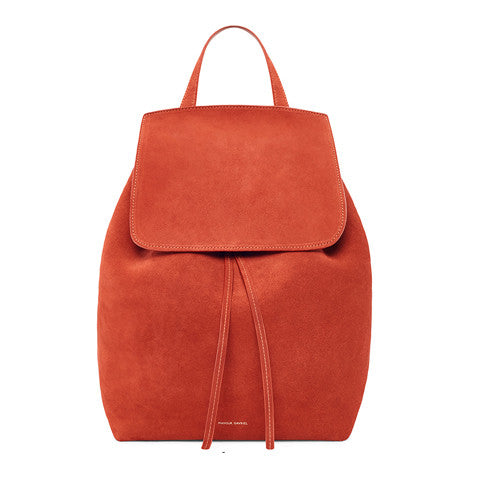 Mansur Gavriel Brick Suede Backpack / Shop Super Street - 1