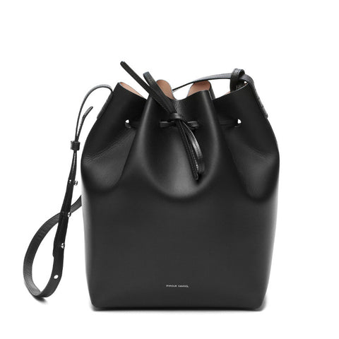 Mansur Gavriel Black/Ballerina Bucket Bag / Shop Super Street - 1
