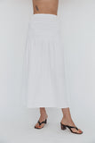 Clio Skirt White Cotton