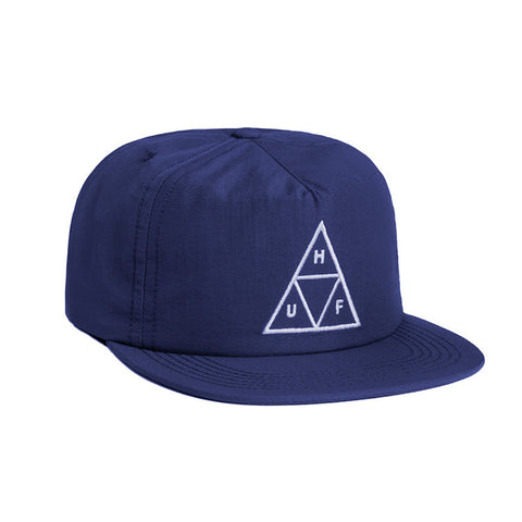 HUF Triple Triangle Navy Snapback / Shop Super Street