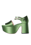 Rochas Block Satin Green Platform / Shop Super Street - 1