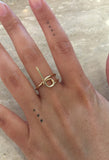 14k Gold Tube Ring