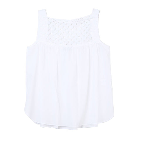 Carven Eyelet Cotton Voile Tank / Shop Super Street - 1