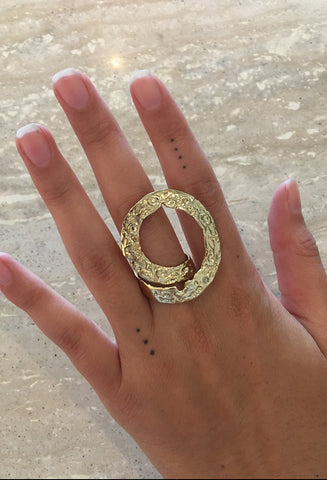 Crater Wrap Cocktail Ring