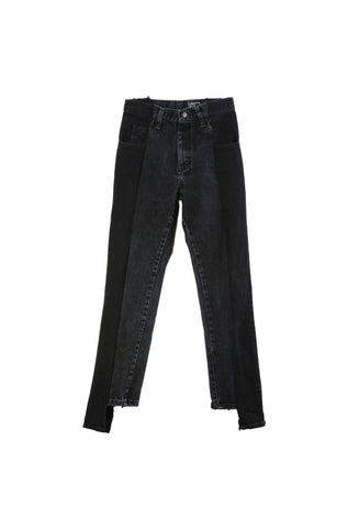 Alxvndra Black Back Zipper Denim 27
