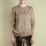 Y Project Tan Leather Collar Turtleneck / Shop Super Street - 2