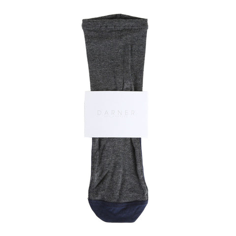 Darner Charcoal & Navy Bamboo Sock / Shop Super Street - 1