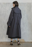 Two Piece Trench Coat Black