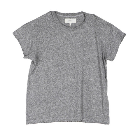 The Great Boxy Crew Heather Grey Tee / Shop Super Street - 1