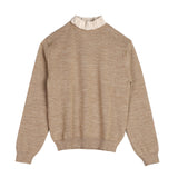 Y Project Tan Leather Collar Turtleneck / Shop Super Street - 1