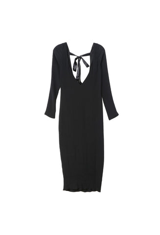Breelayne Cara Black Crepe Silk Dress / Shop Super Street - 1
