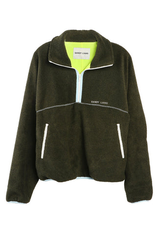 Bean Pullover Fleece Dark Olive