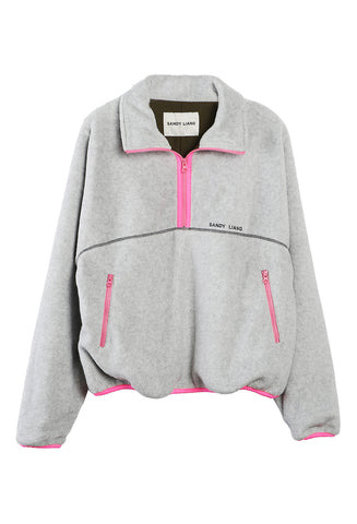 Bean Pullover Fleece Grey