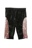 Velvet Bike Short Black/Dusty Pink