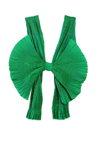 Pleated Bow Top Emerald