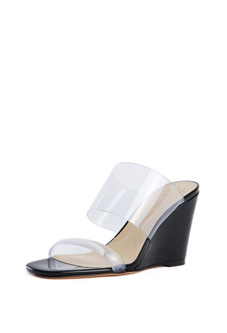 Olympia Wedge Black Patent