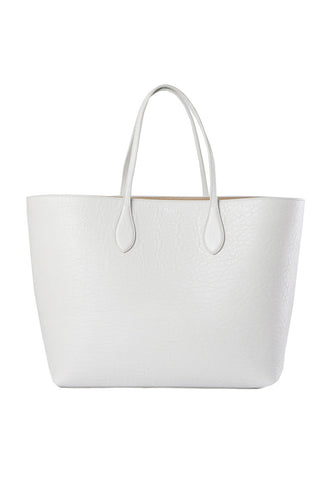Rochas Grey Pebble Tote / Shop Super Street - 1