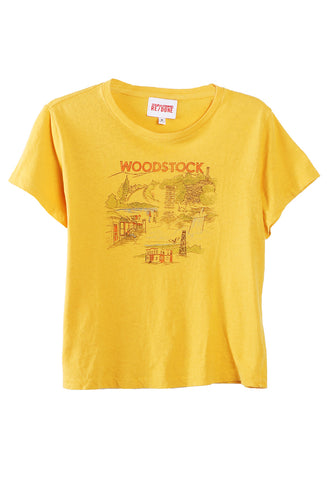 Woodstock Tee Yellow