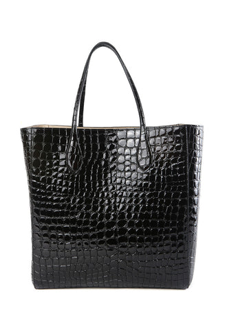 Rochas Croc Embossed Tote / Shop Super Street - 1