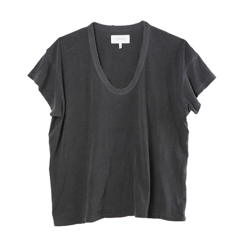 The Great The U-Neck Washed Black Tee / Shop Super Street - 1