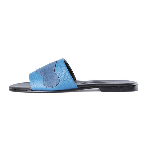 Newbark Roma II Blue Suede Slide / Shop Super Street - 1