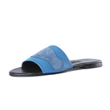 Newbark Roma II Blue Suede Slide / Shop Super Street - 2