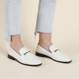 Newbark Melanie White Loafer / Shop Super Street - 2