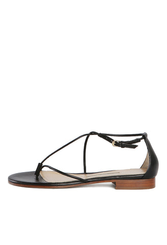 String Sandal Black