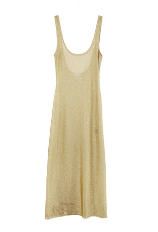 Low Back Dress Gold
