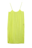 Pleated Dress Lime