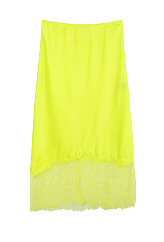 Lace Slip Neon Yellow