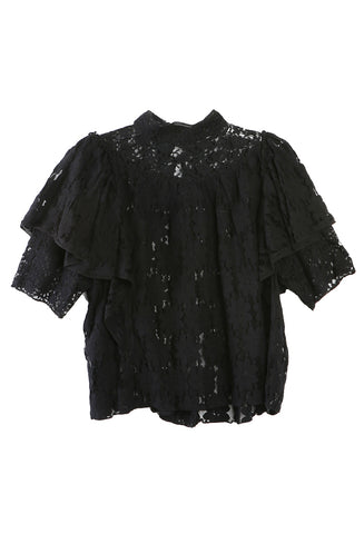 Vetea High Neck Lace Top