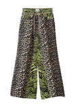 Print Denim Jeans Leopard/Lime