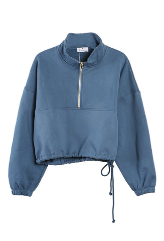 Diana Half Zip Sweatshirt Blue