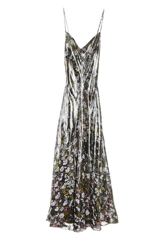 Lurex Slip Dress Floral