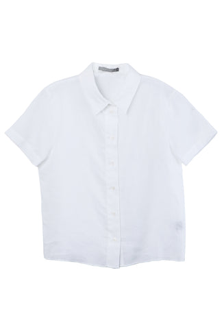 Linen Short Sleeve Button Up