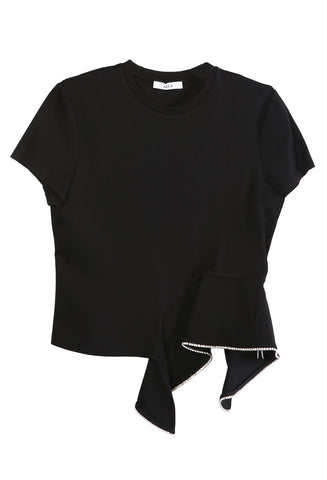 Peplum T-shirt Black