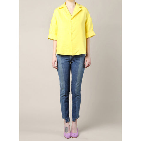 Can Pep Rey Oversized Yellow Linen Shirt / Shop Super Street - 1