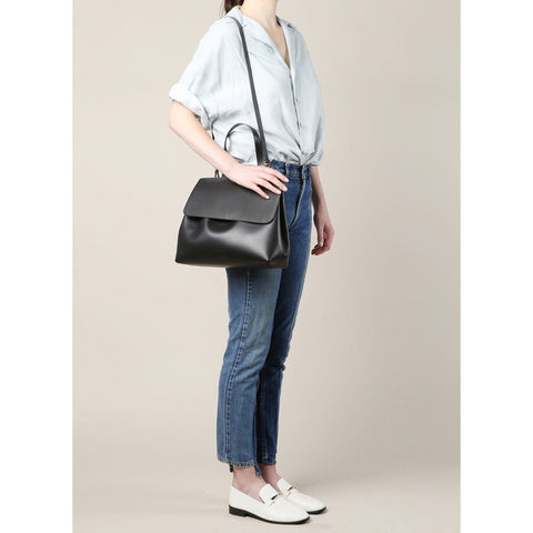 Mansur Gavriel Black/Flamma Lady Bag / Shop Super Street - 1