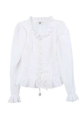 Faustina Lace Up Top