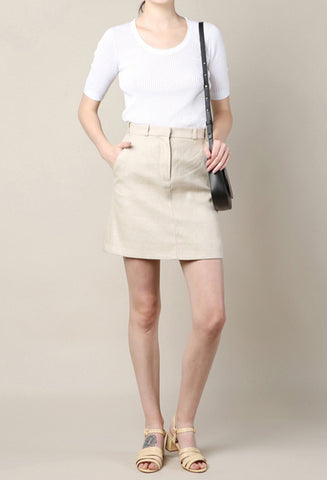 Carven Linen Skirt / Shop Super Street - 1