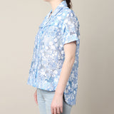 Carven Blue Printed Shirt / Shop Super Street - 4