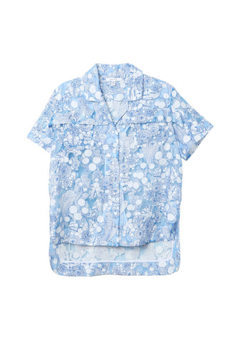 Carven Blue Printed Shirt / Shop Super Street - 1