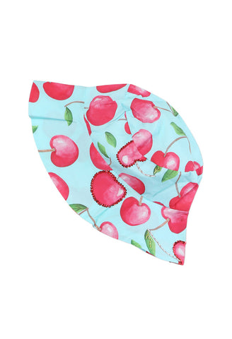 Cherries Print Sun Hat